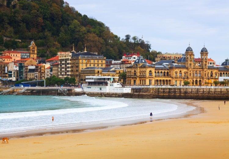 Playa de La Concha en San Sebastián, País Vasco