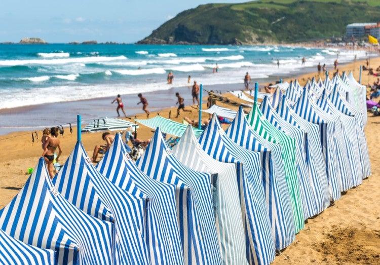 Playa de Zarautz en el País Vasco