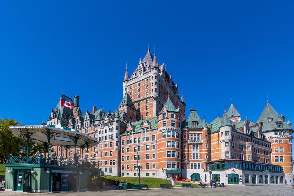 Hotel Chateau Frontenac en la ciudad de Quebec, Canadá
