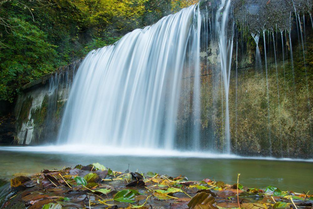 Cascada de Acquacheta dentro del Parque Natural de Casentino, forma parte de lCamino de Dante entre la Toscana y la Emilia-Romaña